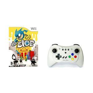 JEU WII Pack Jeu De Blob avec manette de jeu Wii et Wii U