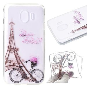 HOUSSE DE CHAISE TB Tour Eiffel Coque TPU Silicone Pour Samsung Gal