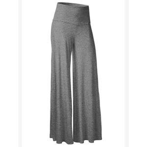 d4d63d2e8c63 Pantalon femme Couleur unie Pantalon large 7990438 Gris clair ...