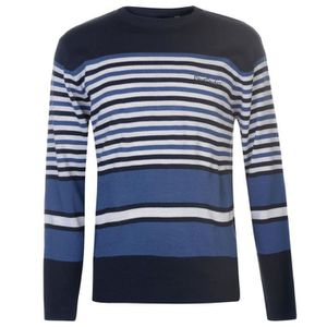 PULL Pierre Cardin Stripe Homme Pull Manche Longue Acry