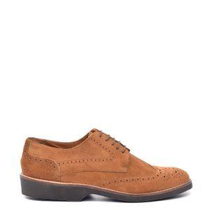 MOLIÈRE Chaussures Kylan en cuir marron - semelle en caout