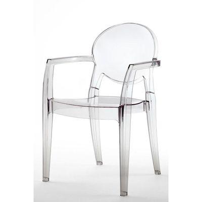Chaise Transparente Design Avec Accoudoirs