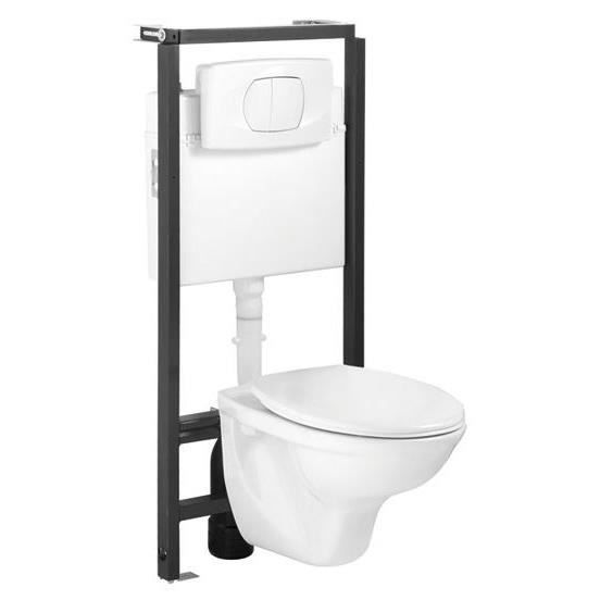 pack wc complet suspendu lyra achat vente wc toilettes pack wc mural lyra cdiscount. Black Bedroom Furniture Sets. Home Design Ideas