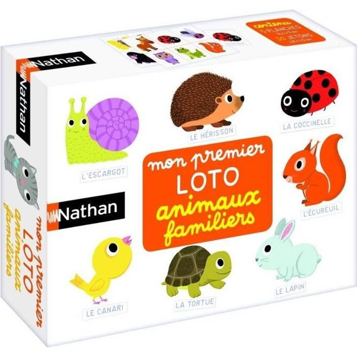 NATHAN - Mon Premier Loto Animaux Familiers