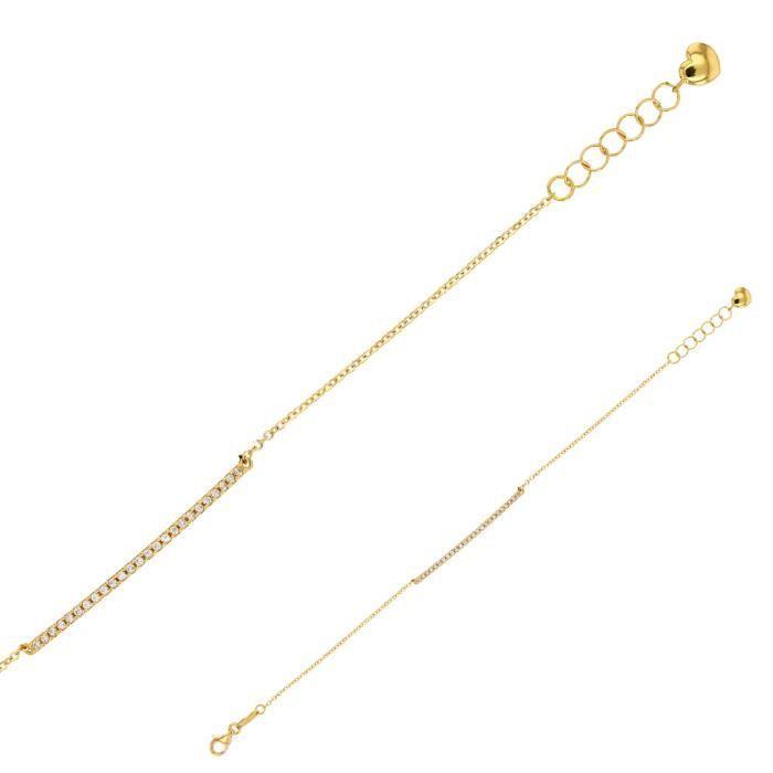 Jouailla - Bracelet Or 375-1000e avec oxydes de zirconium, 18 cm (398048)