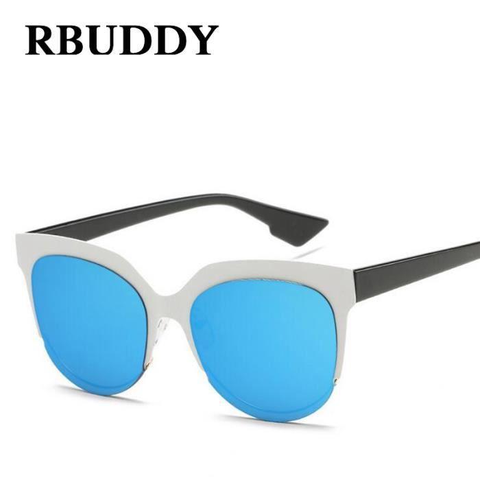 lunettes de soleil RBUDDY oeil de chat femmes concepteur de marque 2017  Vintage Metal Frame Mirror ac633ba1bc21