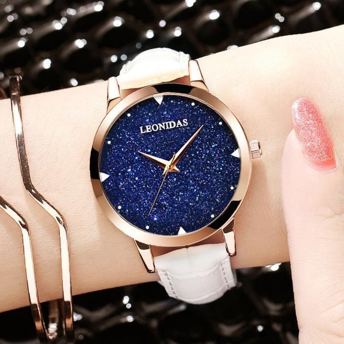 acheter pas cher 46cec 460f9 Montres femmes Ciel étoilé Marque Montre étanche quartz mode étudiante  montre