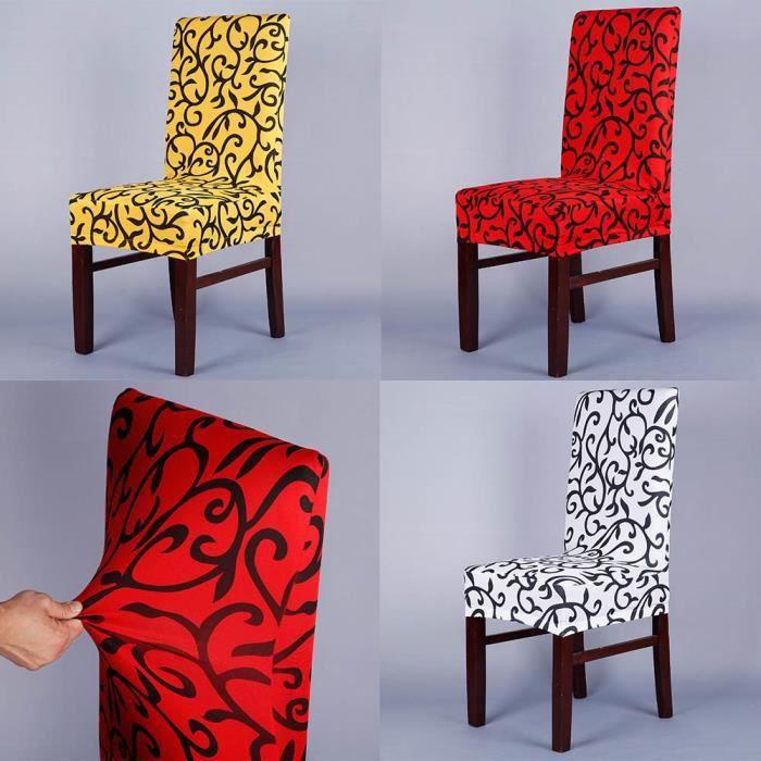 Jaune Housse de chaise Élastique - Achat / Vente housse de chaise ...