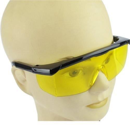 Lot de 3 - Lunettes de protection verre jaune