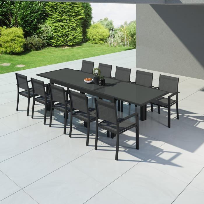HARA XXL - Table de jardin extensible aluminium 200/320cm + ...