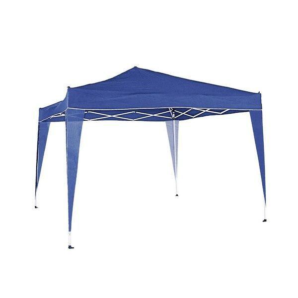 Tonnelle tente de jardin pliable 3x3m Bleu - Achat / Vente tonnelle ...