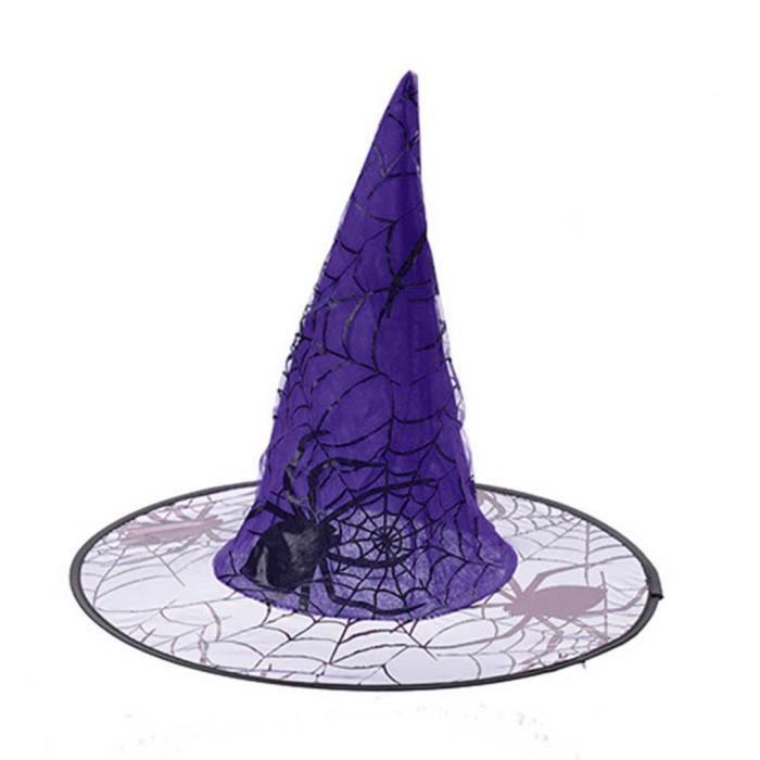 De Halloween Chapeau Sorcière Party Décoration Araignée Déguisement TCwqwav