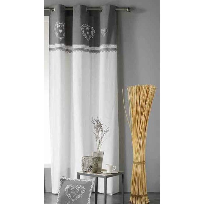 Rideaux blanc 140 x 240cm - Achat / Vente pas cher
