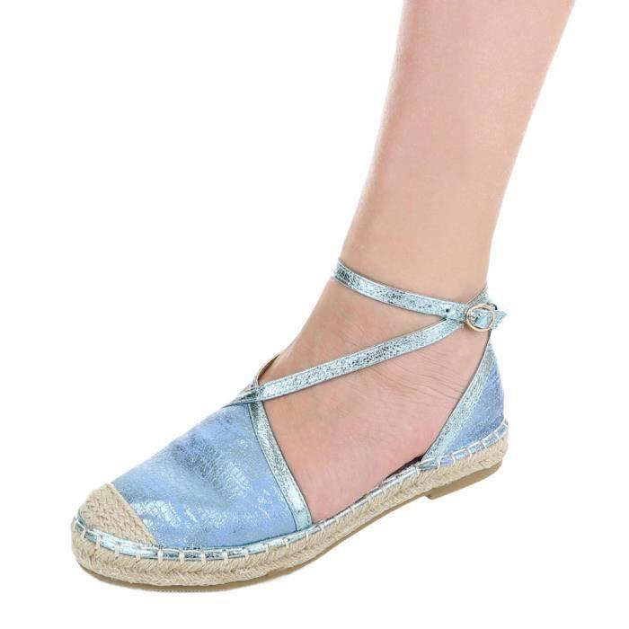 Escarpin Bleu bleu argent 39 Clair Espadrilles or Femme Avec Lacer Clair bordeaux noir Chaussures RXnq55