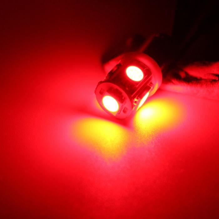 LED Ampoules Rouge   10x  2 - 10x 5 SMD BA9S T4W W5W Culot à baïonnette 360 HID SECONDAIRES ampoule lampe 5 Couleurs