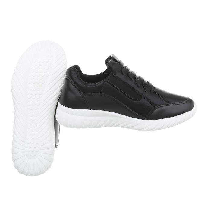 36 Sneakers Chaussures Femme Noir Baskets Des wXwfRWqS