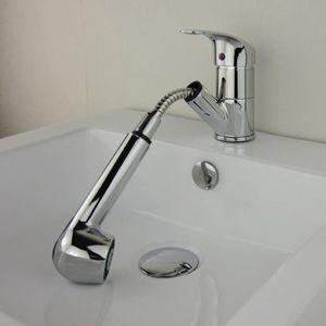 mitigeur lavabo avec douchette achat vente mitigeur lavabo avec douchette pas cher cdiscount. Black Bedroom Furniture Sets. Home Design Ideas