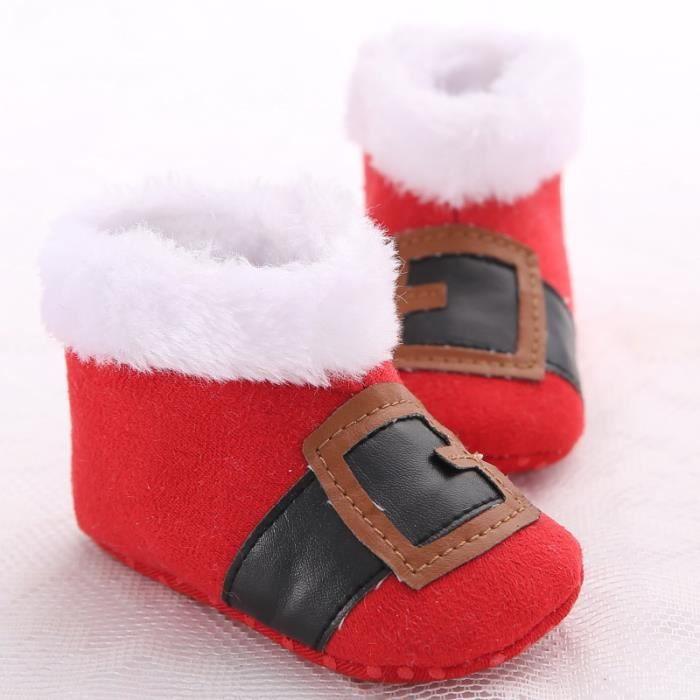 Hiver Nouveau Chaussures de bébé Plus de cachemire Garde au chaud Fond mou Bottes