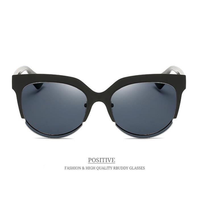 ... lunettes de soleil RBUDDY oeil de chat femmes concepteur de marque 2017  Vintage Metal Frame Mirror abbd92e23040