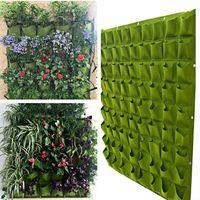 72 Poche Sac De Plantation Mural Suspendu Fleur Herbe Plante Décor Maison Jardin 100*100cm (Vert)
