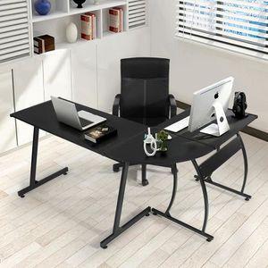 MEUBLE INFORMATIQUE FurnitureR Bureau d'Angle Table Informatique en Mé
