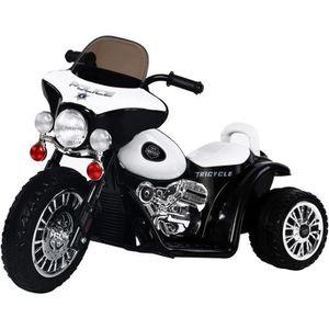 VOITURE ENFANT E-ROAD Moto électrique Police E-Road - Noir