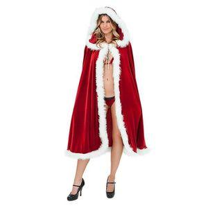3d2186dc1579c DÉGUISEMENT - PANOPLIE Cape à Capuche de Noël Femme Sexy Costume pour Noë  ...