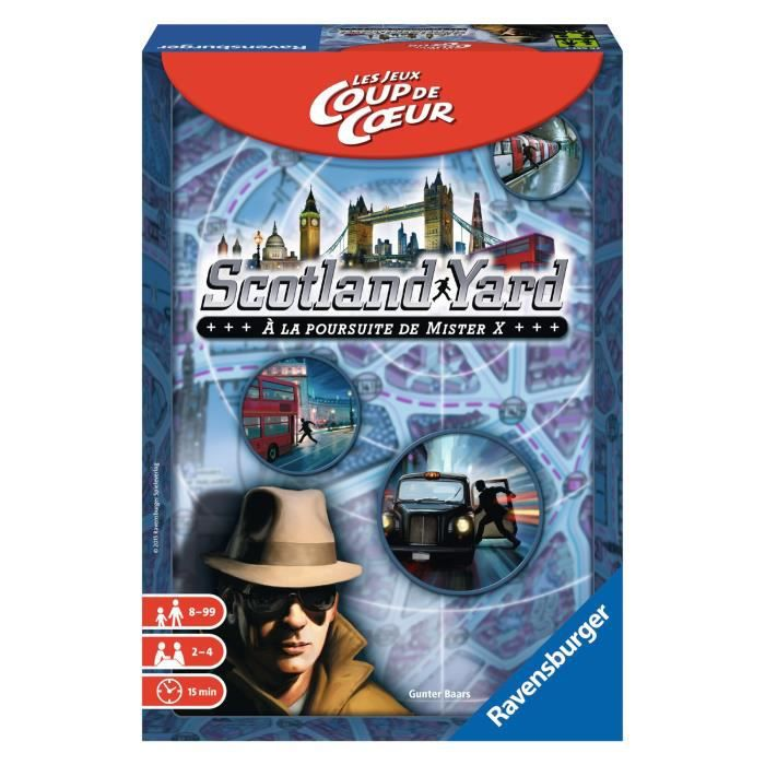 Les Jeux Coup de CŒurs Scotland Yard - Garçon et Fille - A partir de 8 ans - Livré à l'unitéJEU DE SOCIETE - JEU DE PLATEAU