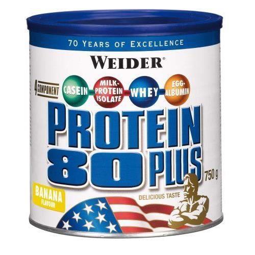 WEIDER Boîte de Protein 80+ Banane 750g