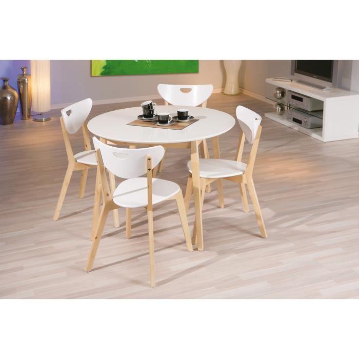 chaises de cuisine bois amy x2 couleur blanc achat. Black Bedroom Furniture Sets. Home Design Ideas