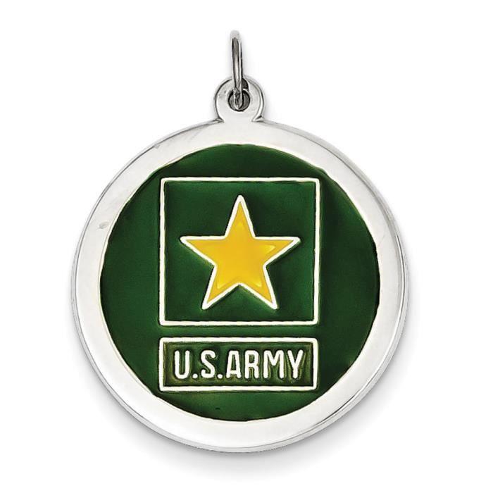 US Army Argent 925/1000 étoile-disque charme