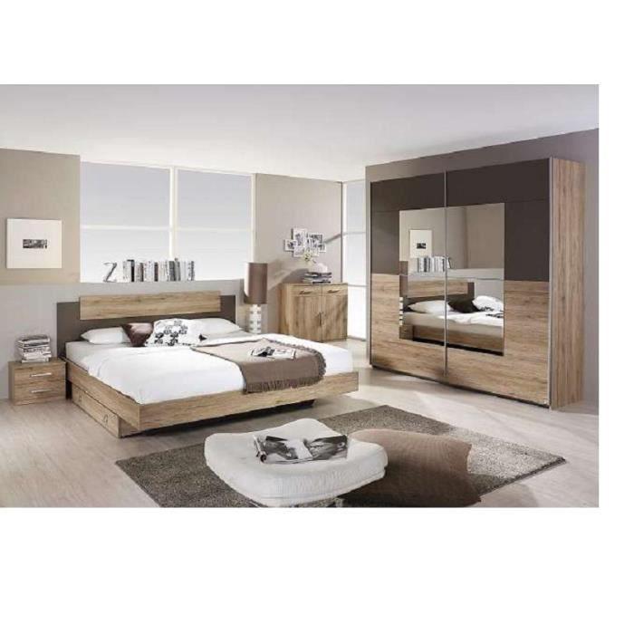Chambre a coucher complte de luxe 4 pieces achat vente chambre compl te chambre a coucher - Chambre a coucher cdiscount ...