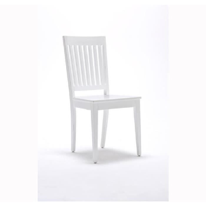CHAISE Lot 2 Chaises Bois Blanc Collection LEIRFJORD