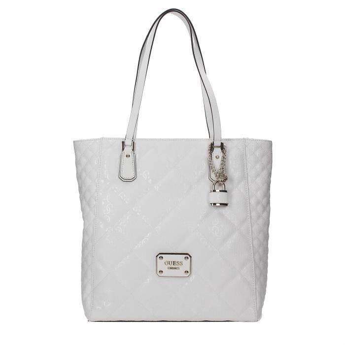 Guess Sac Shopper Femme White
