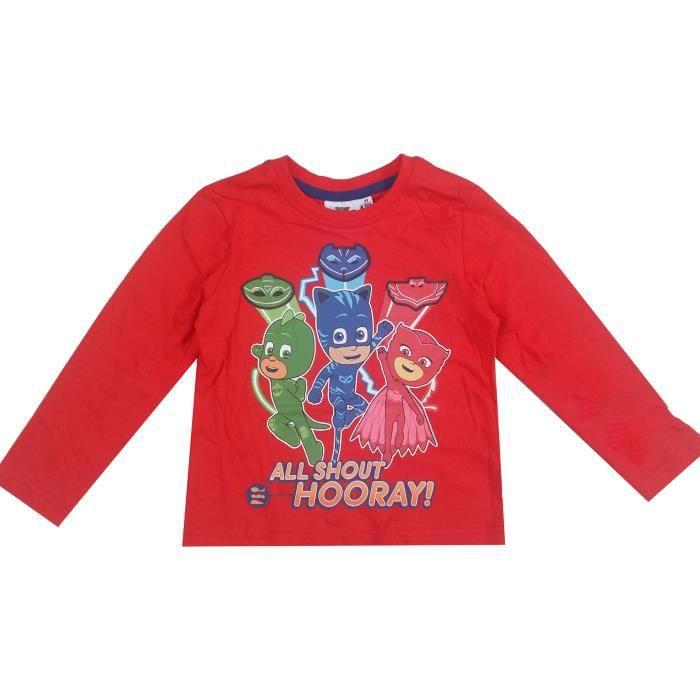 6c3de1e31f5f1 Pyjamasques tee shirt garçon manches longues - Rouge Rouge Rouge ...