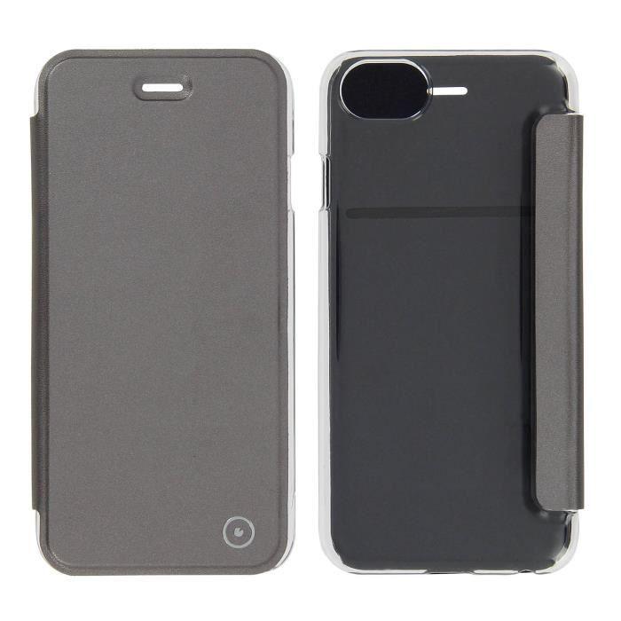 coque clapet iphone 7 noir