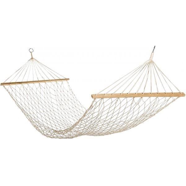 hamac filet 100 coton avec barres en bois achat vente hamac hamac filet 100 coton avec. Black Bedroom Furniture Sets. Home Design Ideas