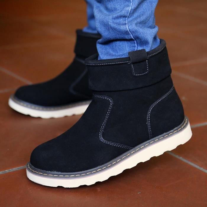 printemps chauds mode Bottes randonnée Nouvelle neige Chaussures de hiver hommes antidérapants I4gwqqSx