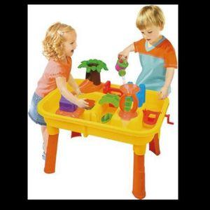 JOUET DE PLAGE TABLE DE JEU PLAGE SABLE EAU + 20 P ENFANT JOUET J