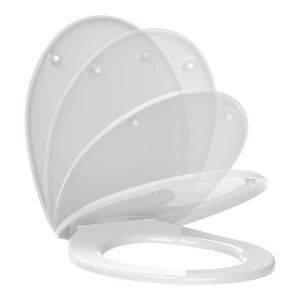 ABATTANT WC Abattant de toilette Blanc double frein de chute R