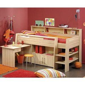 Lit combiné et bureau enfant MATELOT - Achat / Vente lit combine Lit on