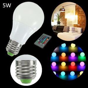 AMPOULE - LED GREENH 2Pcs E27 RGB LED Ampoule 5W Changement Coul