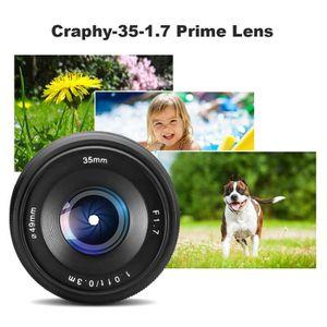 OBJECTIF CRAPHY 35mm F / 1.7 Objectif à Grande Ouverture de