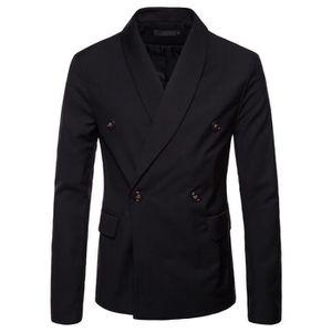 COSTUME - TAILLEUR Costume veste couleur unie double boutonnage col c ... 2b93e88e3d9