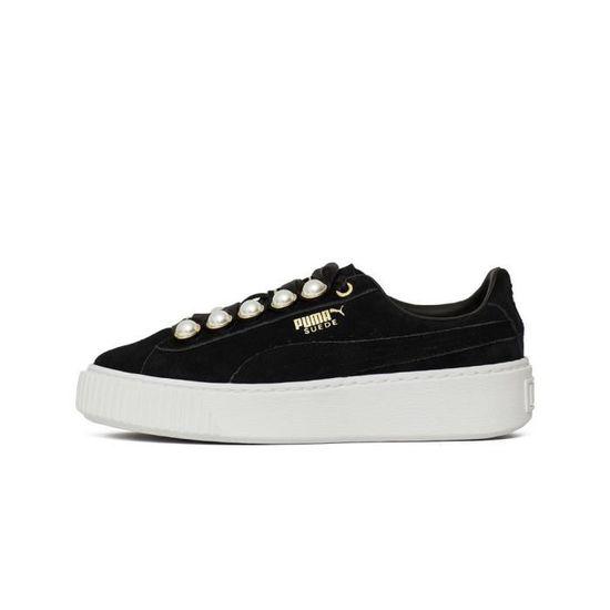 Chaussures Puma Suede Platform Bling Wmns Noir Noir - Achat / Vente basket