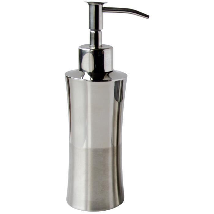 GELCO Distributeur à savon Silver en métal chromé