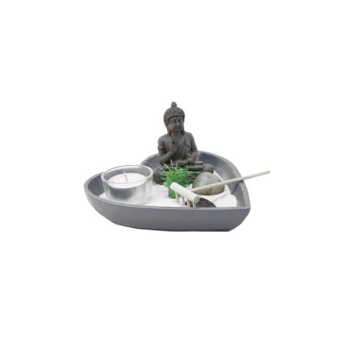 Jardin zen coeur - Gris anthracite - Objet de décoration avec accessoires