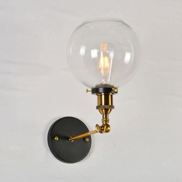 Vintage Industriel Edison Style Finition Ronde Boule De Verre Forme ...