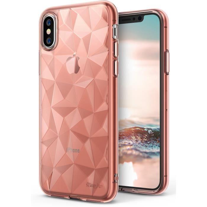 coque or rose iphone x