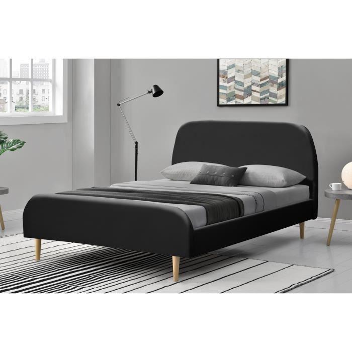 cadre lit bois 140x190 achat vente cadre lit bois. Black Bedroom Furniture Sets. Home Design Ideas